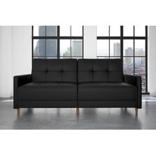 Benitez Faux Leather Convertible Sofa