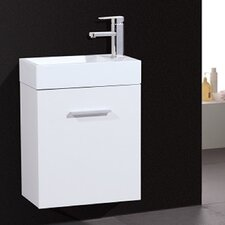 "Tenafly 18"" Single Wall Mount Modern Bathroom Vanity Set"