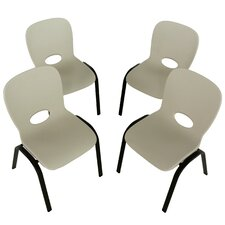 Armless Contemporary Childrens Stacking Chair (Set of 4)