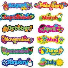Seasonal Months of The Year Calendar