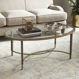 Coffee tables you39ll love wayfair for Wayfair oval coffee table