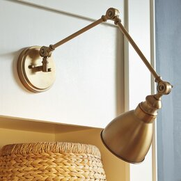 Swing Arm Lighting. Flush Mount Wall Lights