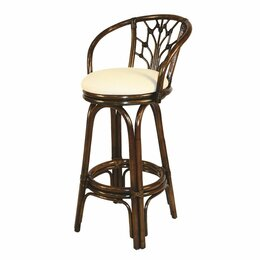 Wicker u0026 Rattan Bar Stools  sc 1 st  Wayfair : bar stool with back and arms - islam-shia.org