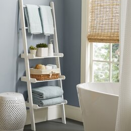 Free Standing Bathroom Shelving Storage  Organization You ll Love Wayfair