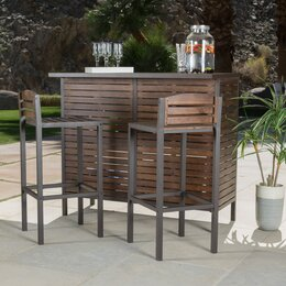Rustic outdoor dining tables - Patio Bar Amp Bar Height Furniture Wayfair