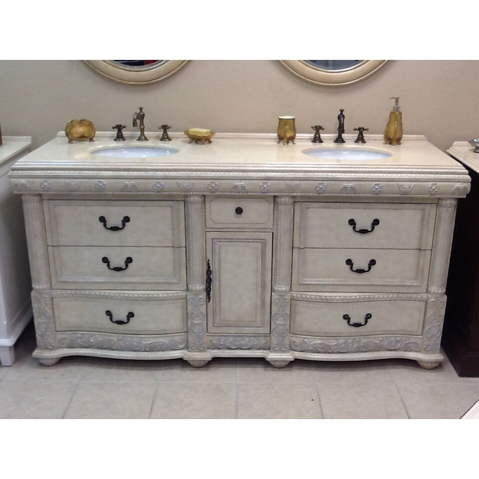Double bathroom vanity - B Amp I Direct Imports Caroline 72 Quot Double Bathroom Vanity Set