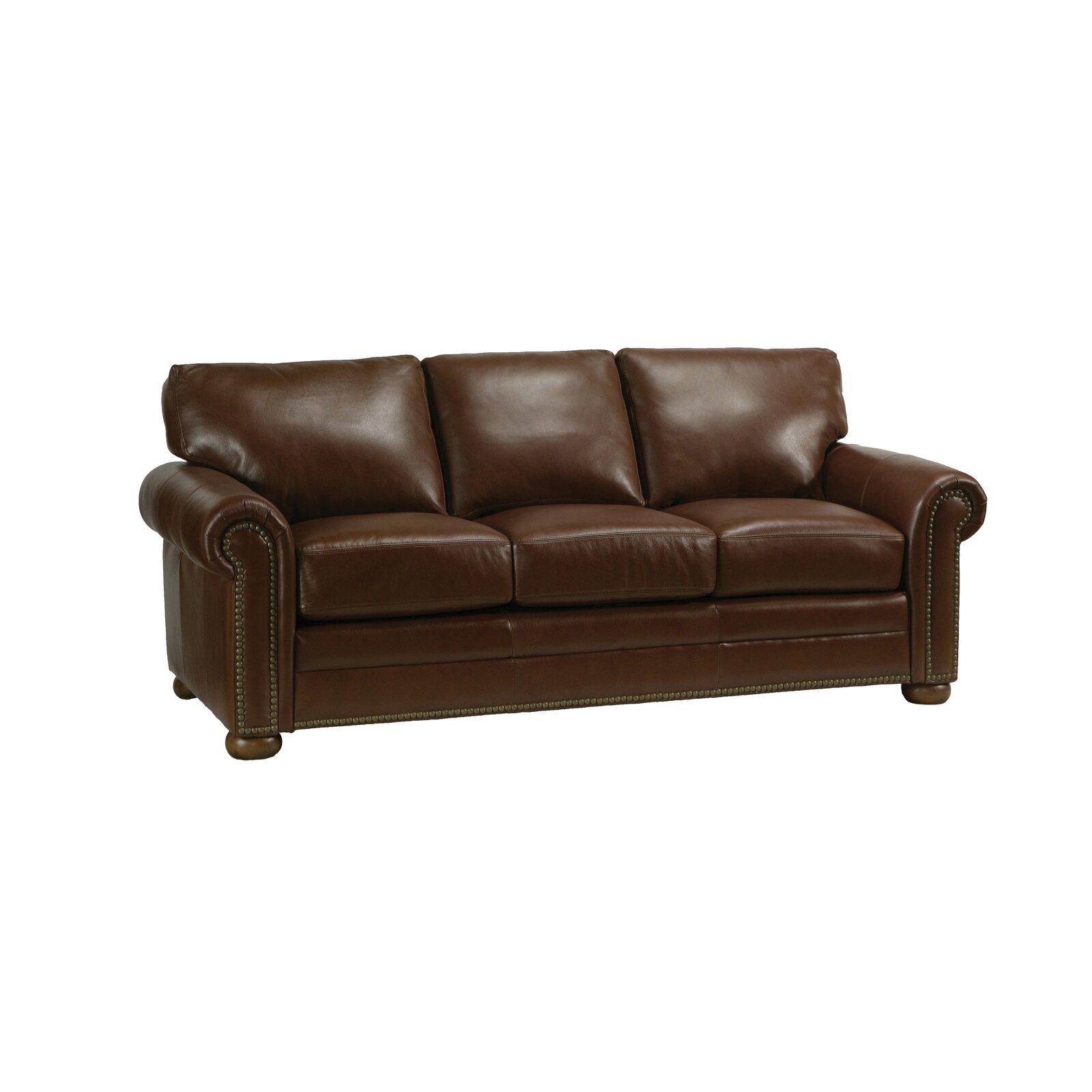 Wayfair Living Room Sets Omnia Leather Savannah Leather 3 Seat Sofa Living Room Set