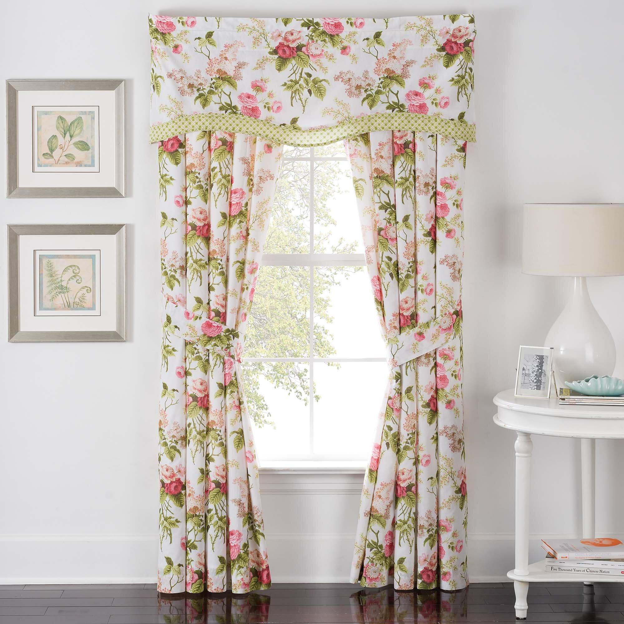 Waverly Emma 39 S Garden 52 Lined Window Curtain Valance Reviews Wayfair