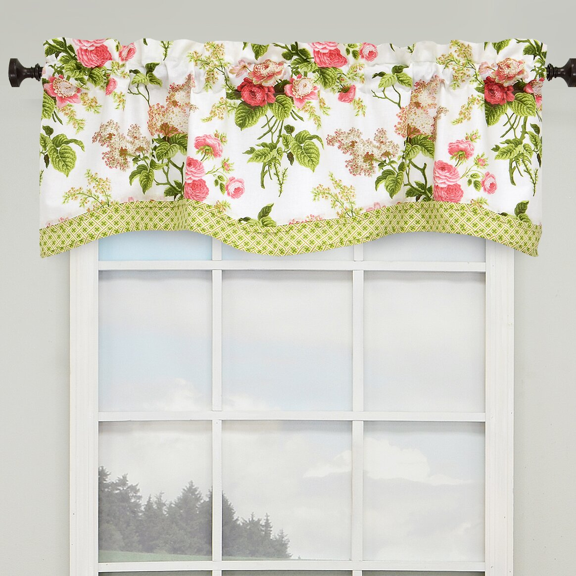 Waverly Emma S Garden 52 Quot Lined Window Curtain Valance