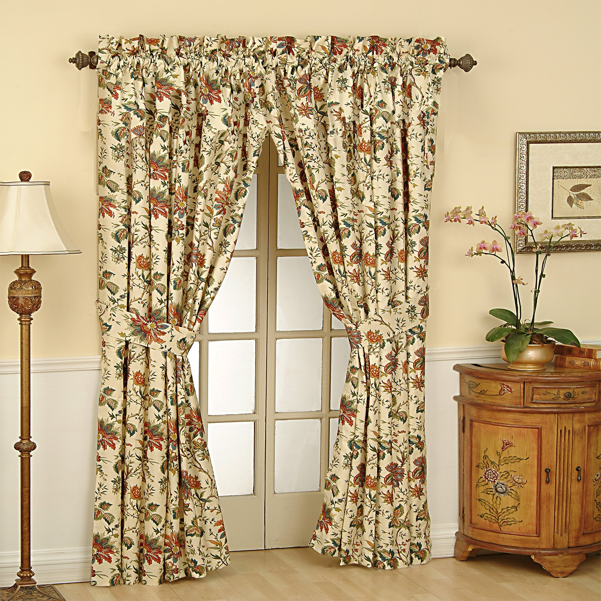 Waverly kitchen curtains - Waverly Felicite Rod Pocket Window Single Curtain Panel