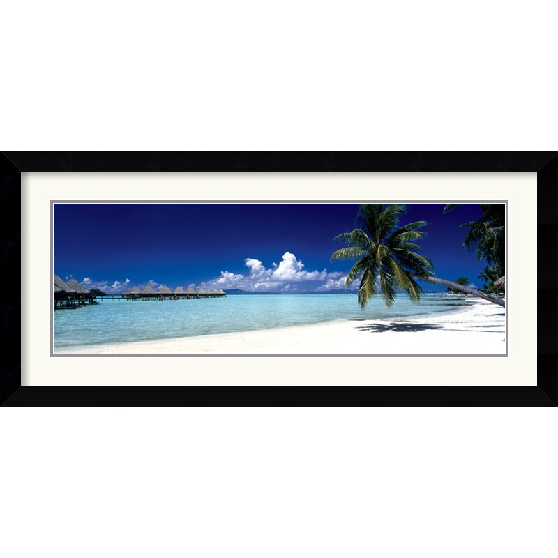 amanti art tropical beach panel by anonymous framed photographic print