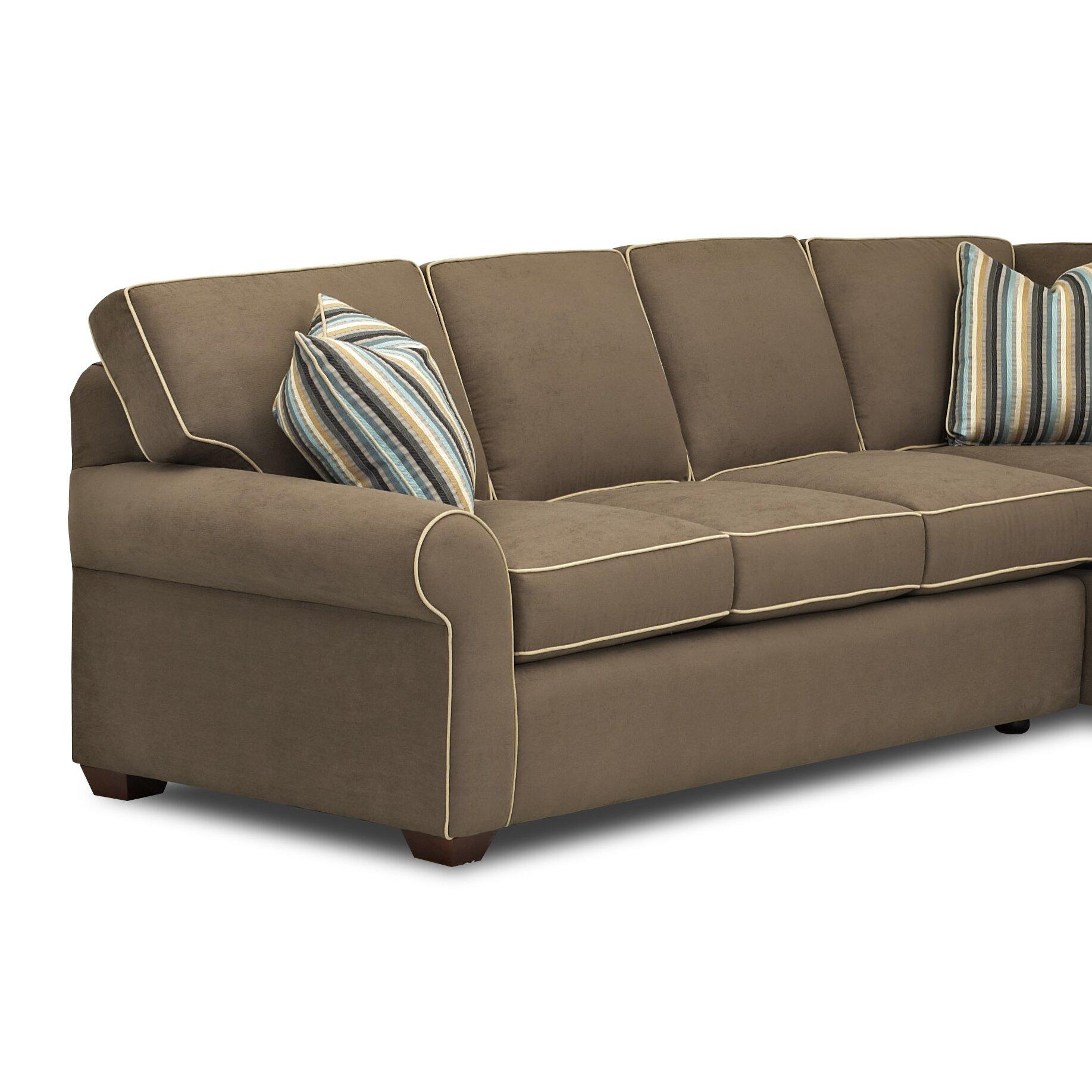 Klaussner Bedroom Furniture Klaussner Furniture Milton Sectional Wayfair