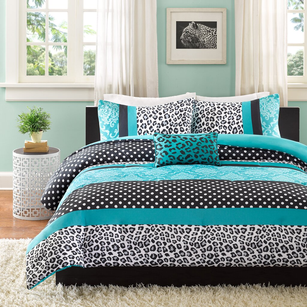 Blue bedroom sets for girls - Mi Zone Chloe Comforter Set