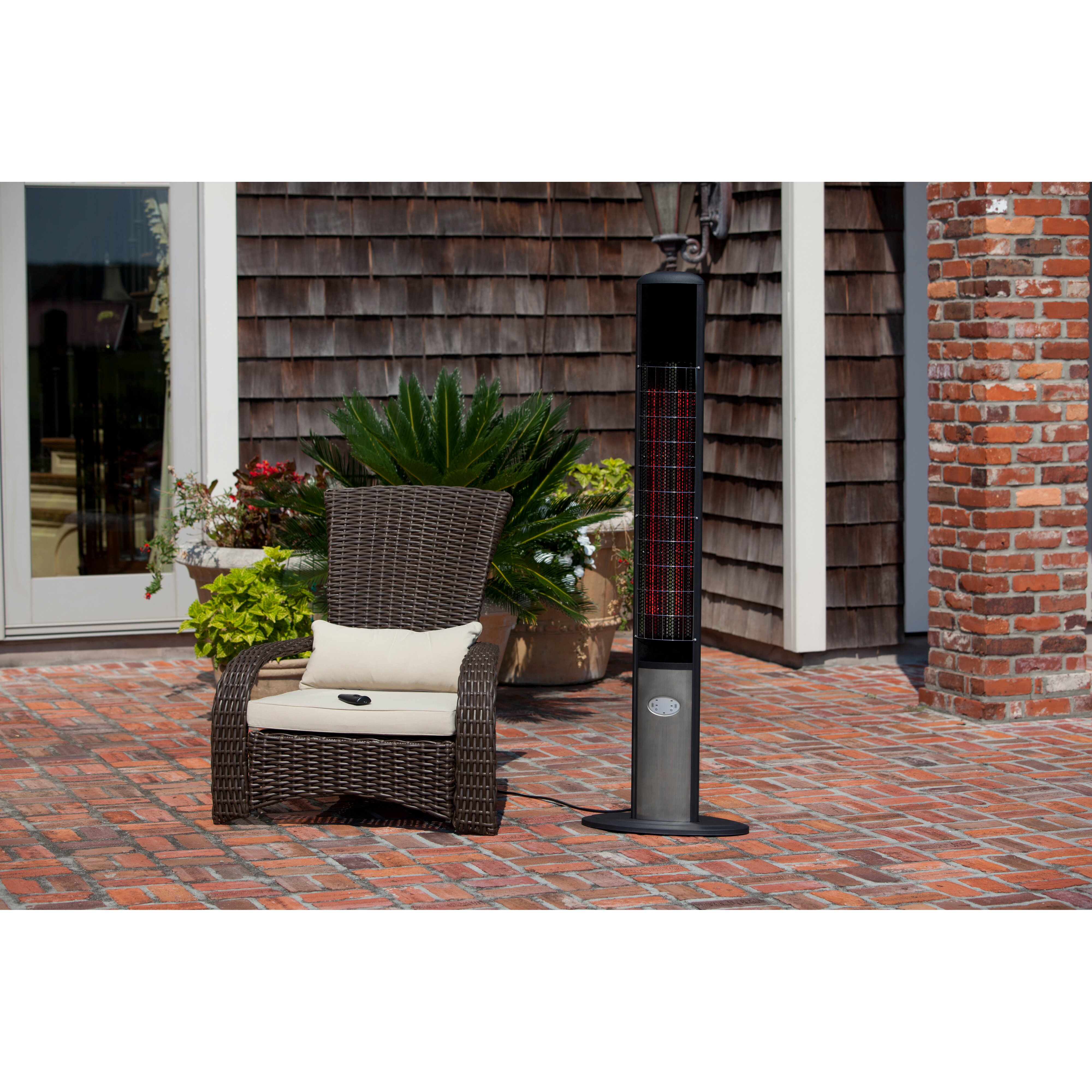 Fire Sense Aspen Tower Floor Standing Halogen 1500 Watt Electric – Fire Sense Patio Heater