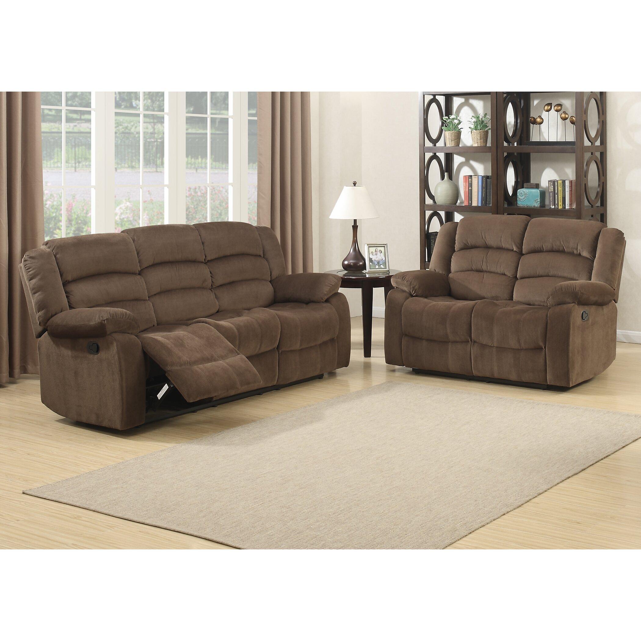 Wayfair Living Room Furniture Ac Pacific Bill Reclining Living Room Sofa And Loveseat Set