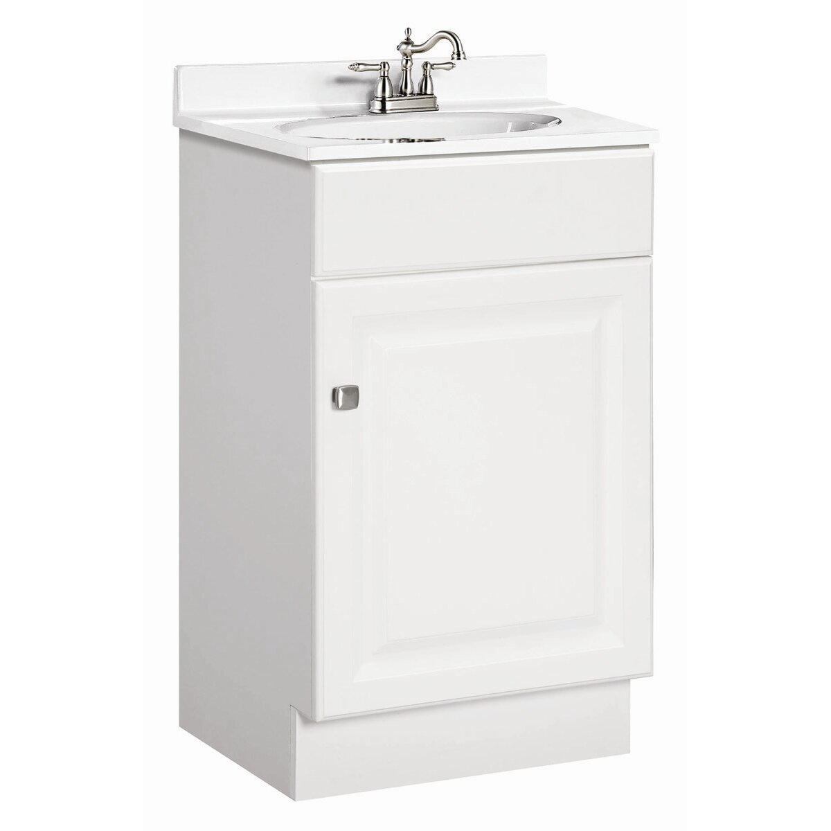 "design house wyndham 19"" single door bathroom vanity set & reviews"