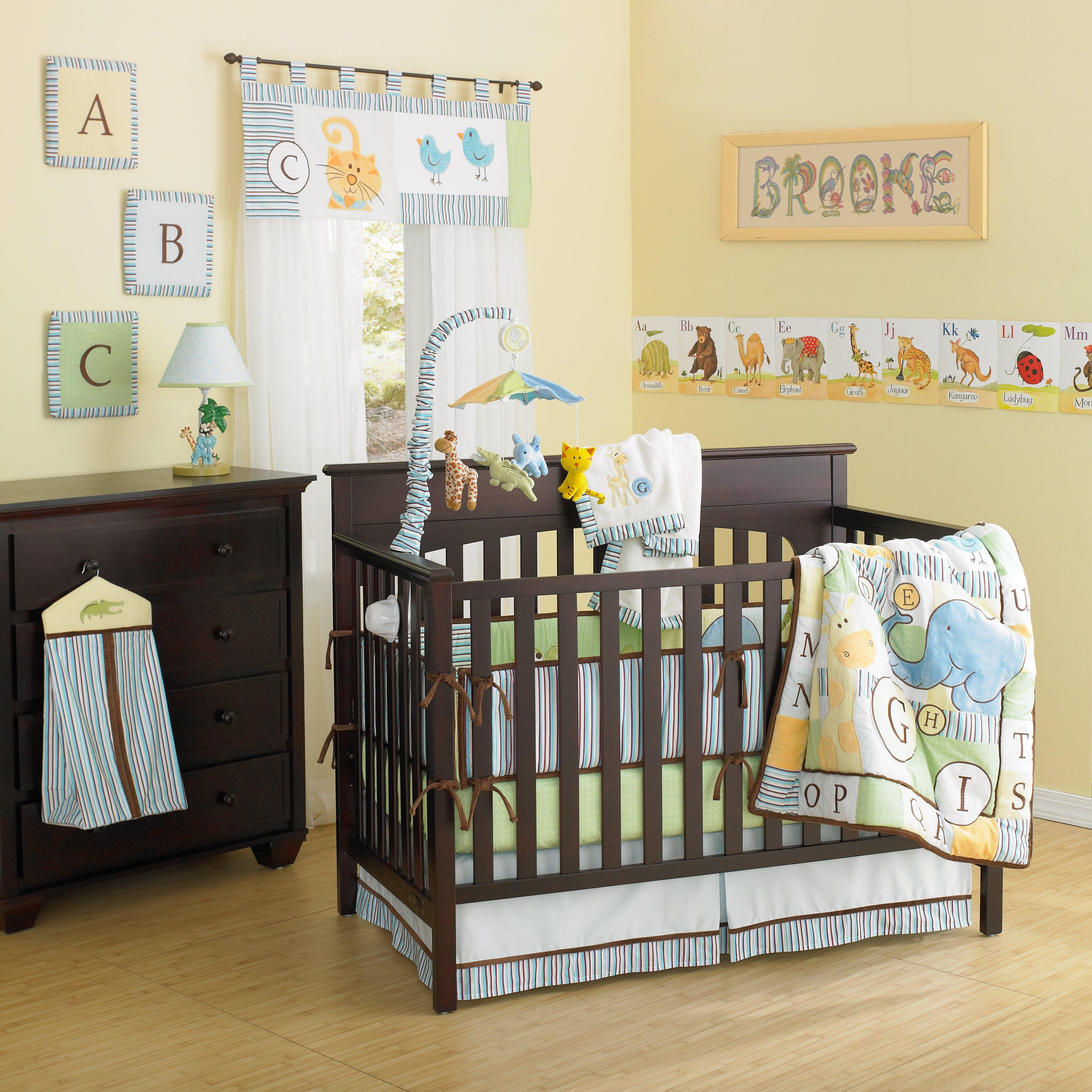 Baby crib zebra print bedding - Abc Animal Friends 10 Piece Crib Bedding Set