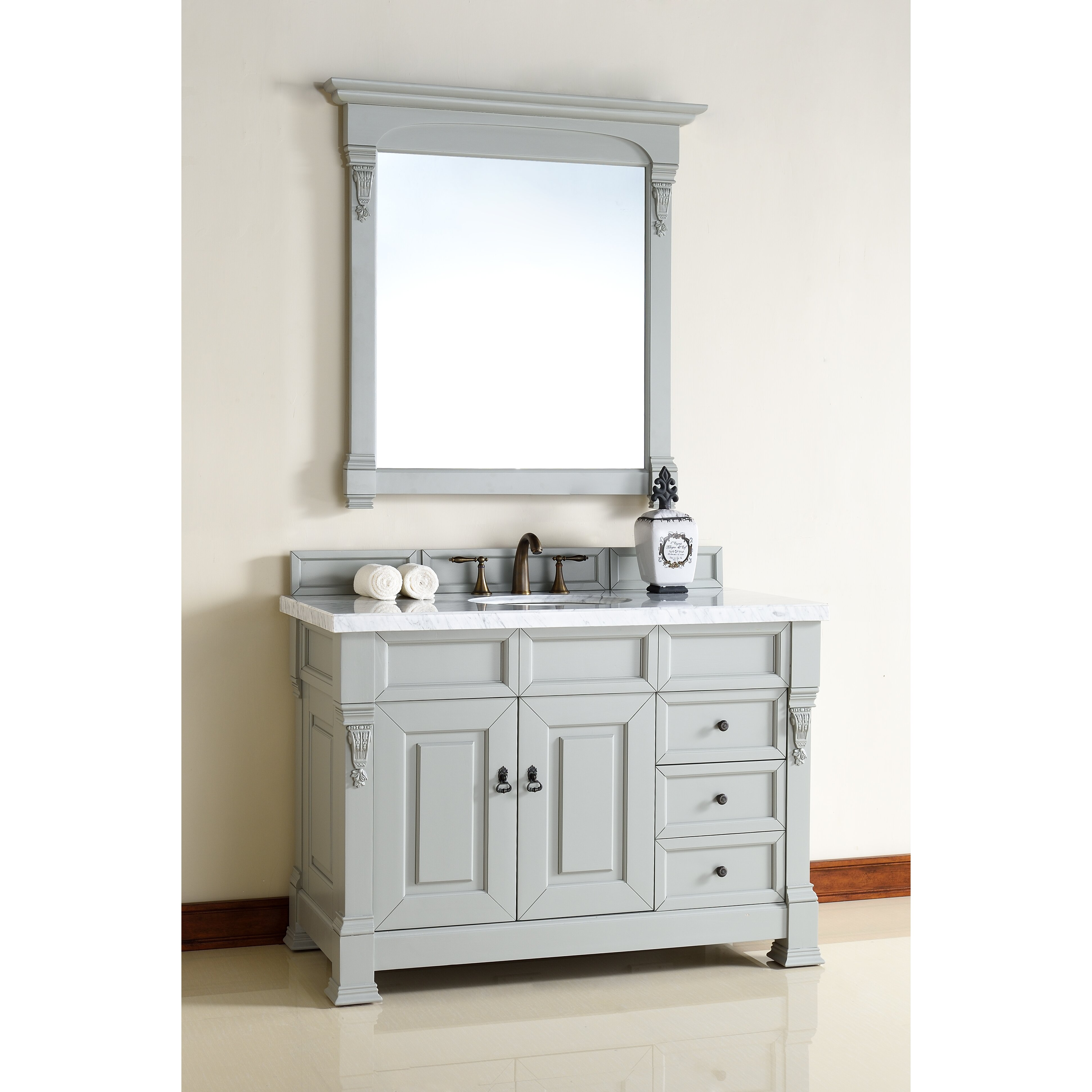 James martin furniture brookfield 48 single urban grey - Wayfair furniture bathroom vanities ...