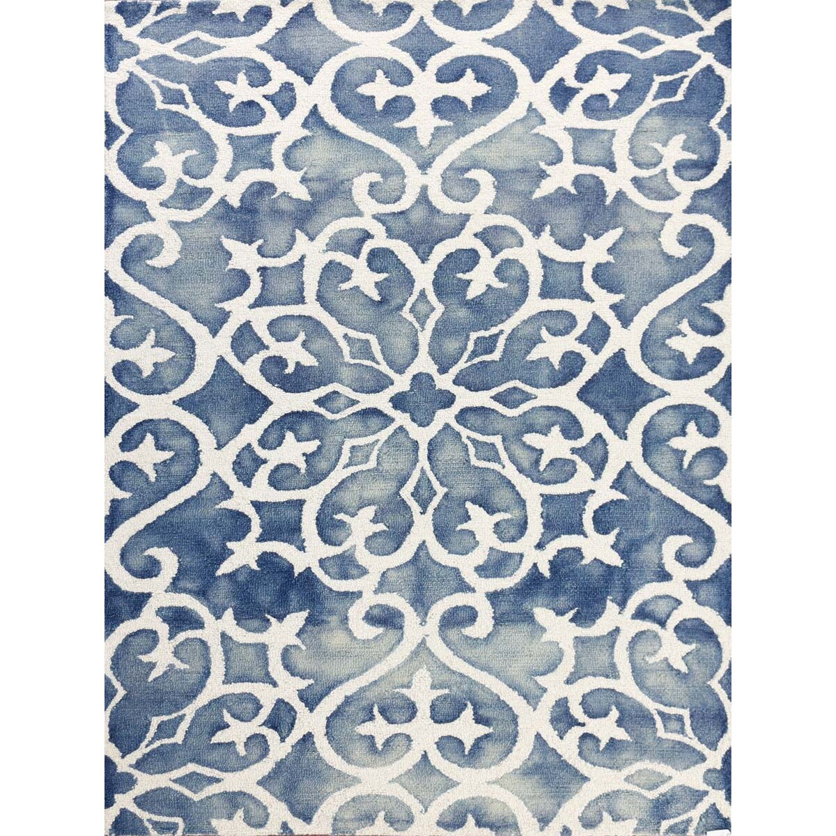 Blue And White Kitchen Rug