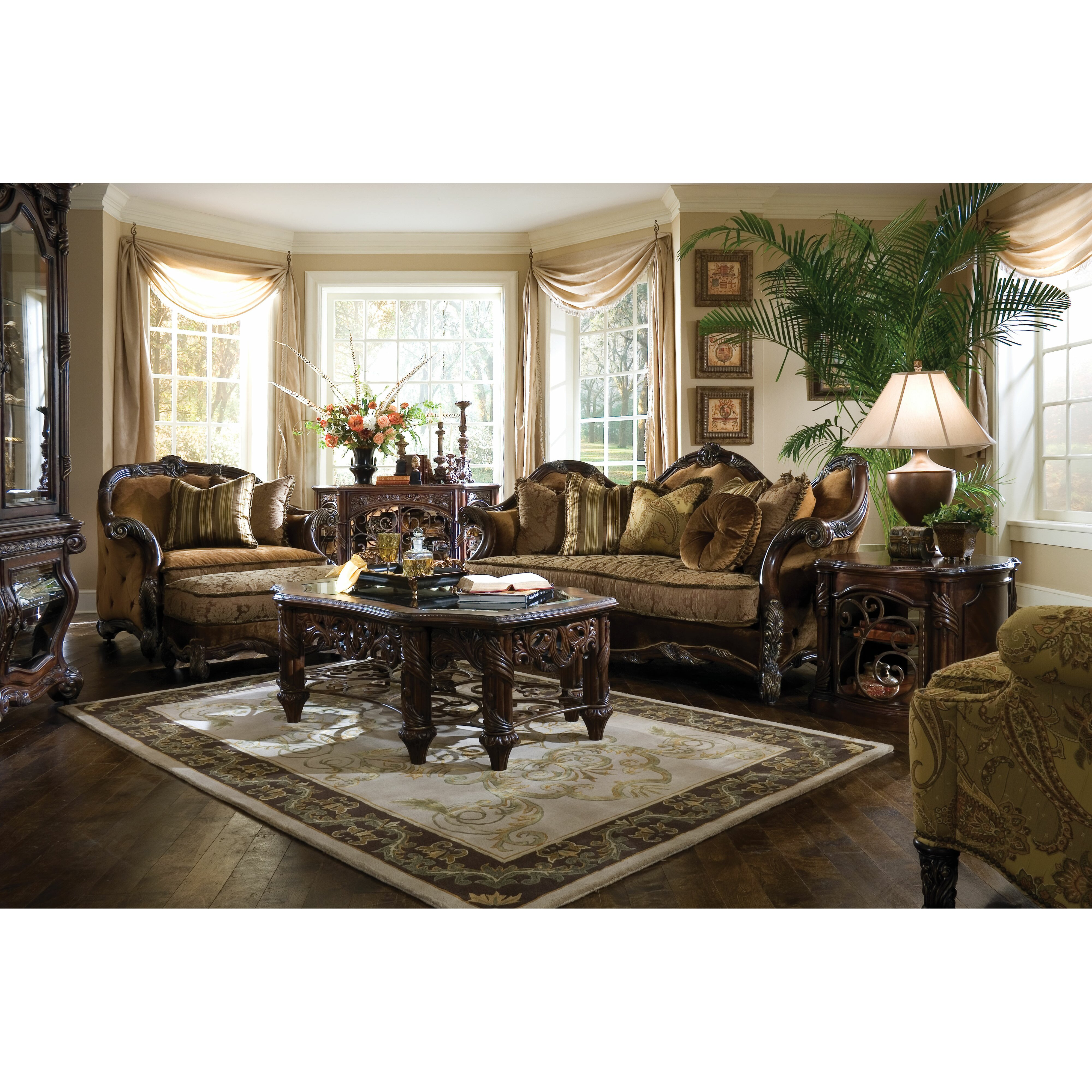 Michael Amini Living Room Furniture Michael Amini Essex Manor Living Room Collection Reviews Wayfair