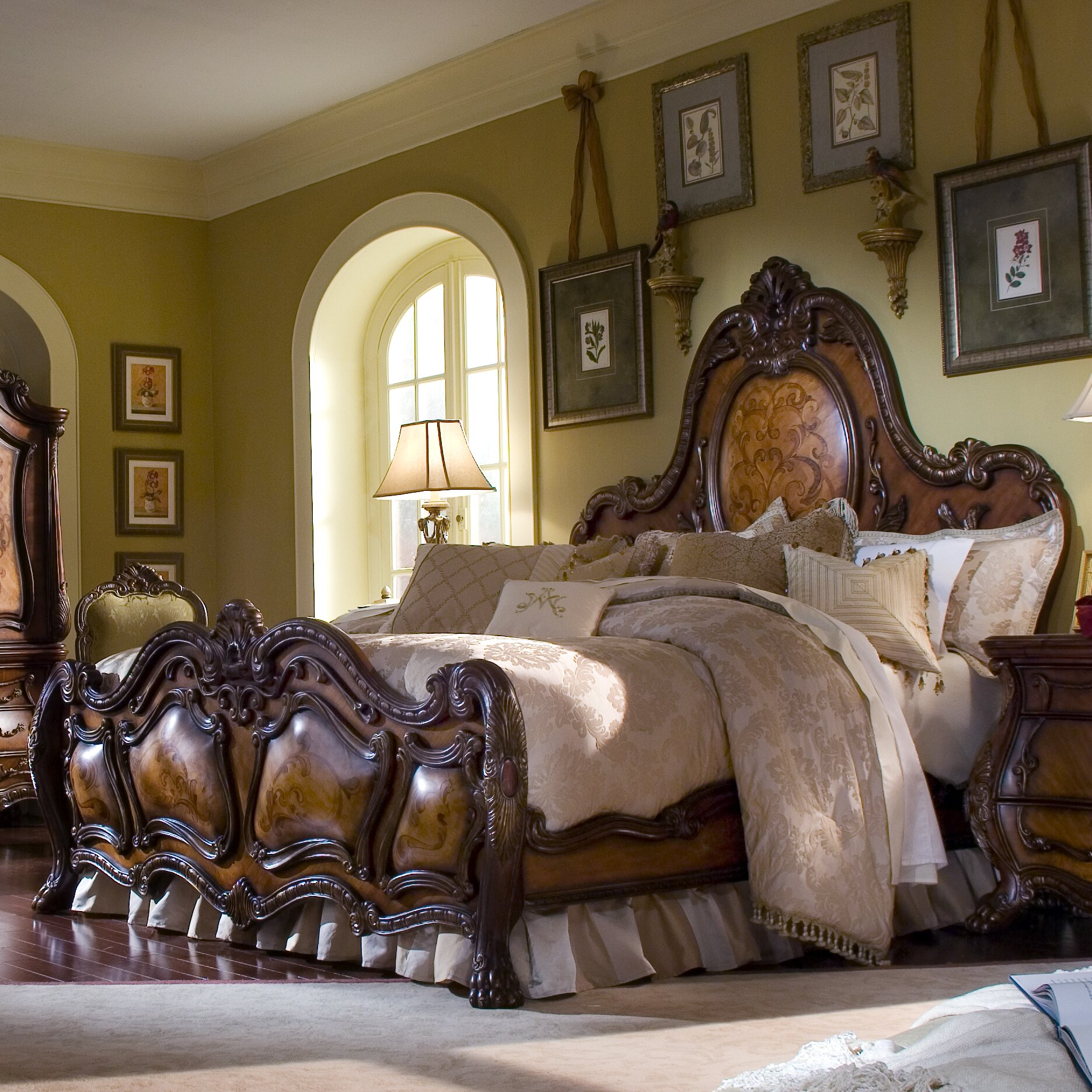 Michael Amini Living Room Furniture Michael Amini Chateau Beauvais Panel Customizable Bedroom Set