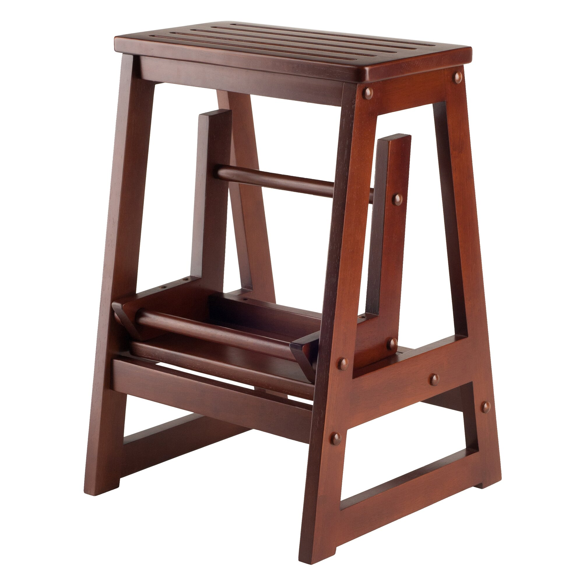 2 Step Wood Step Stool with 200 lb  Load Capacity. Step Stools You ll Love   Wayfair