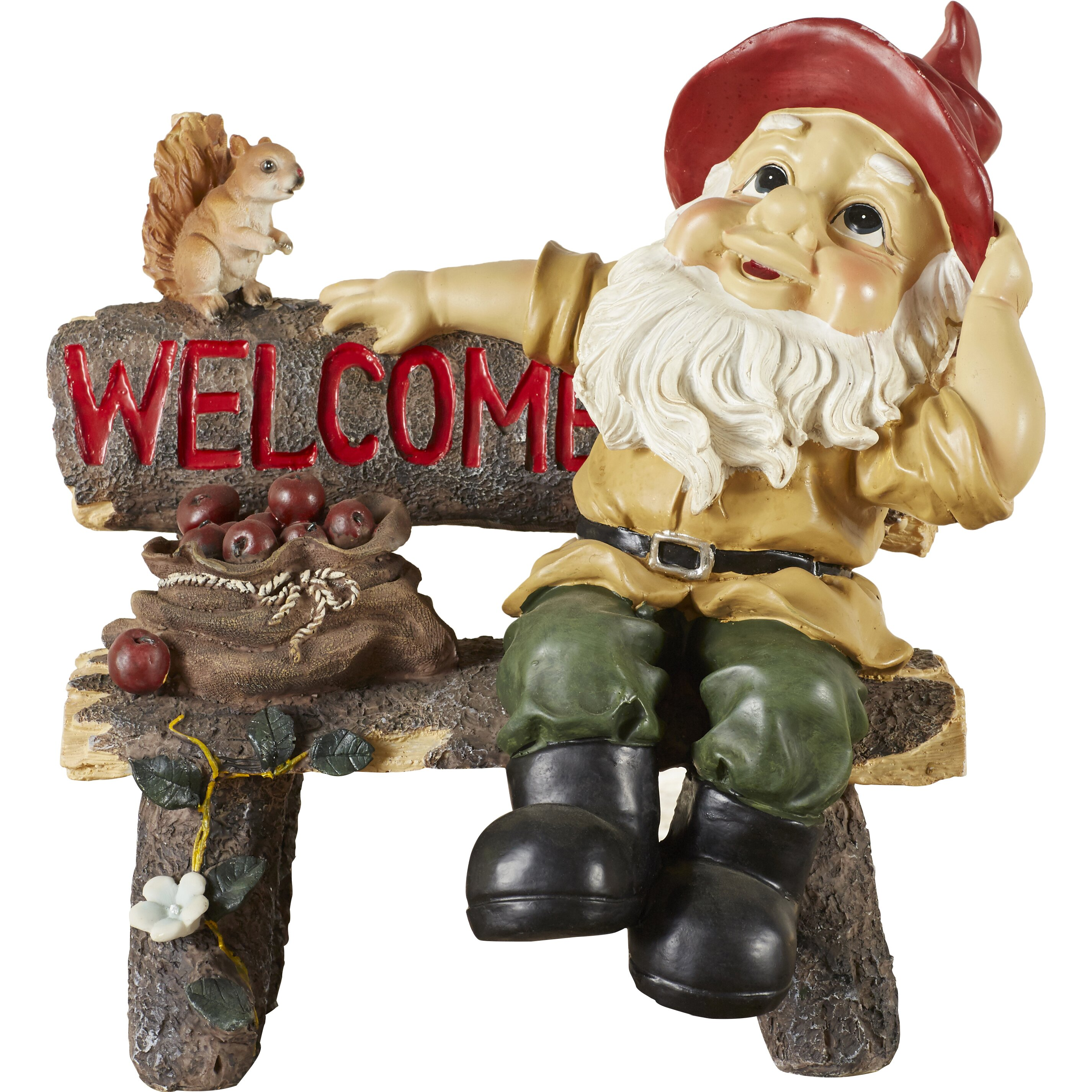 Zingz Thingz Welcoming Garden Gnome Statue Reviews Wayfair