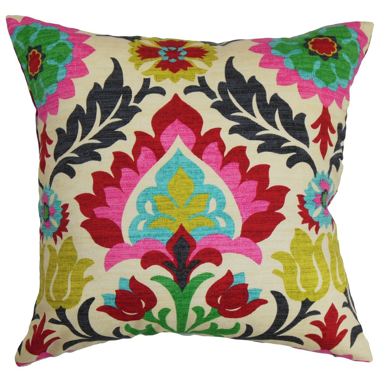 The Pillow Collection Tahsis Floral Cotton Throw Pillow & Reviews Wayfair