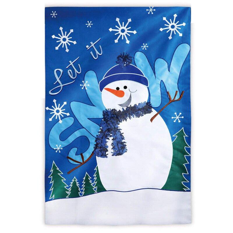 Evergreen Flag Garden Let it Snow House Flag Reviews Wayfair