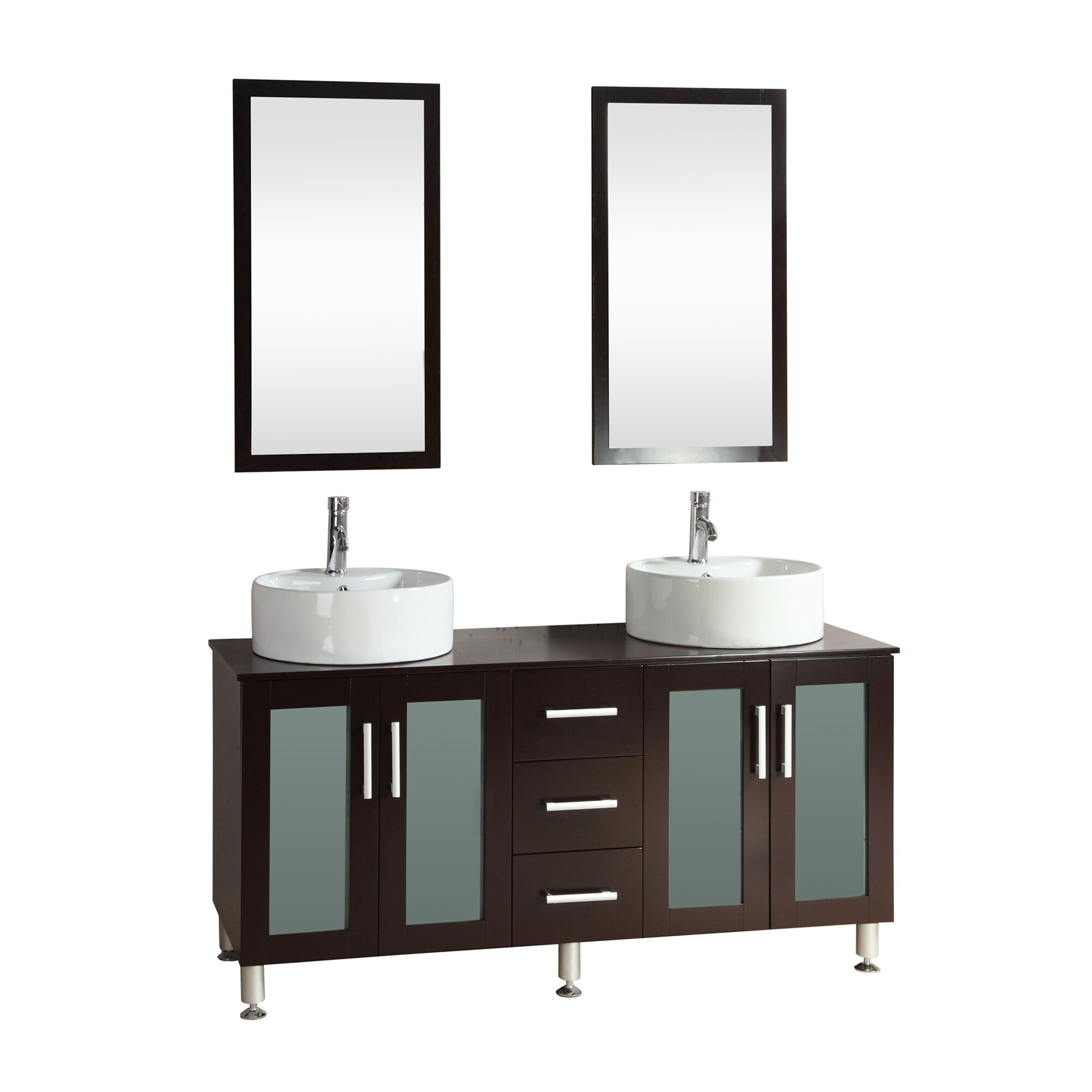 Double bathroom vanity - Kokols 60 Quot Double Bathroom Vanity Set With Mirror