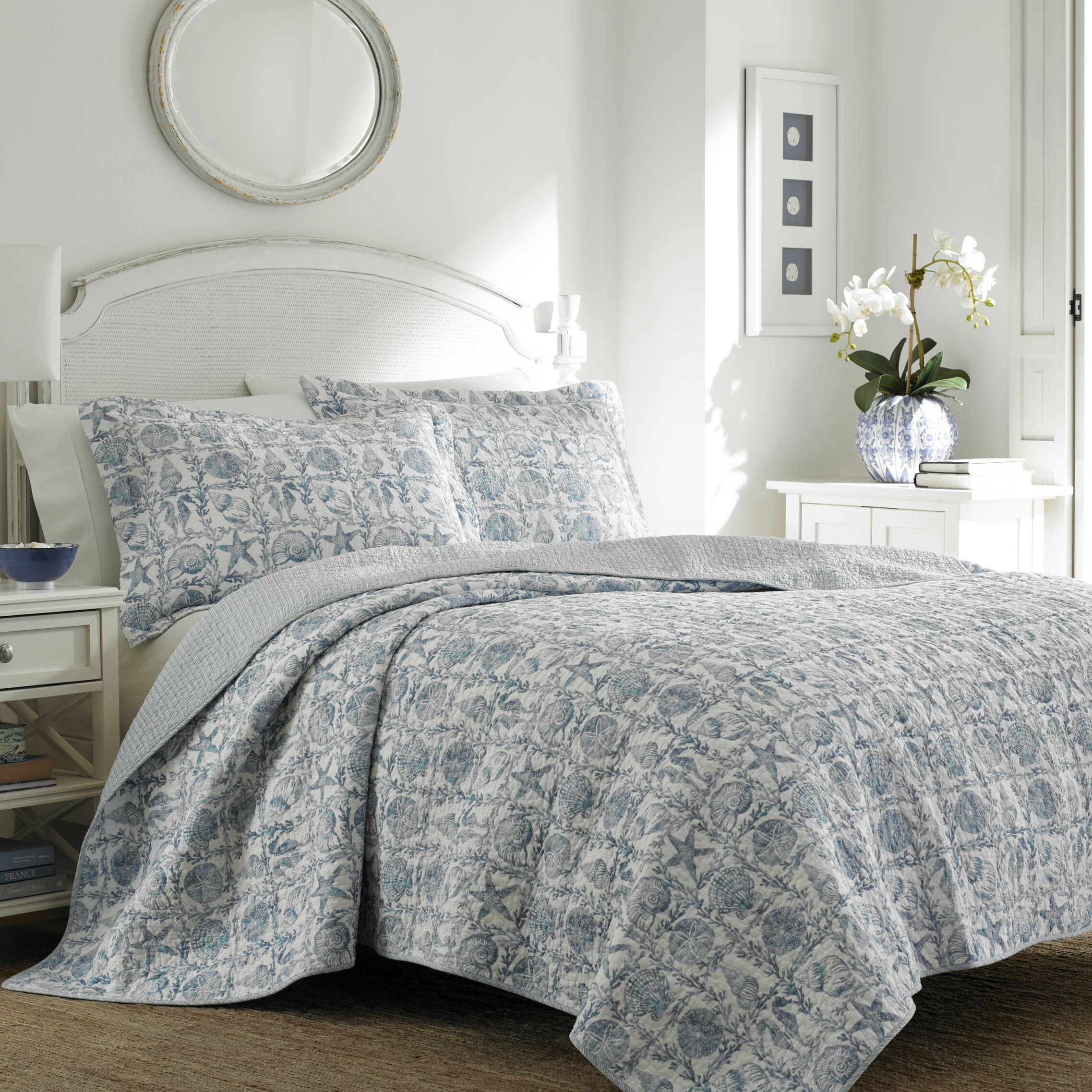 Laura Ashley Bedroom Laura Ashley Home Bettina Beach Reversible Quilt Set Reviews