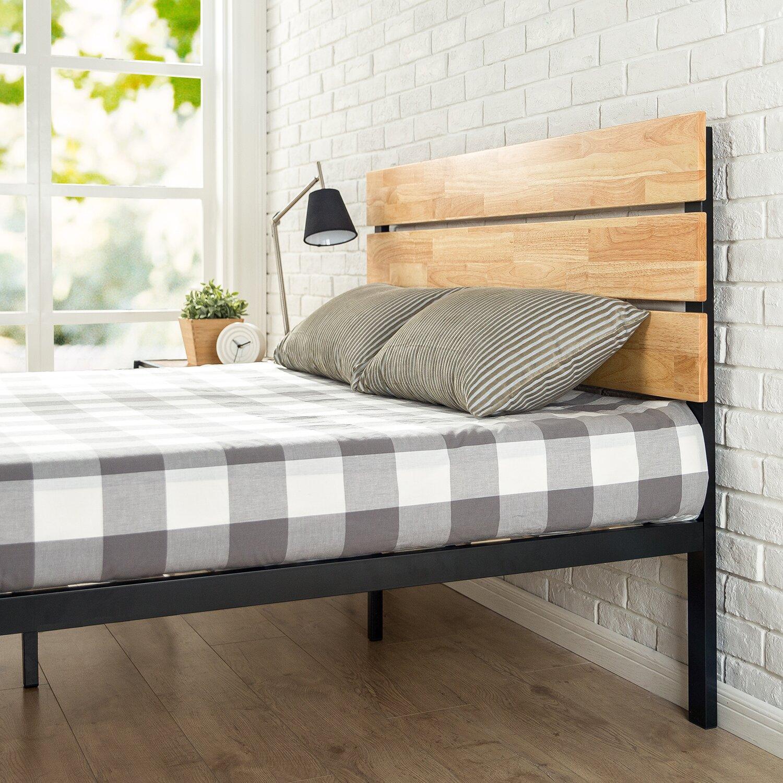 Zinus Sonoma Metal Wood Platform Bed Wayfair Ca