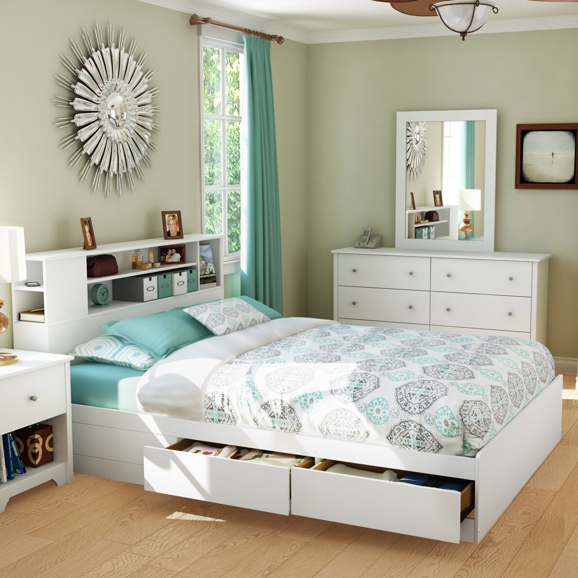south shore vito storage platform bed