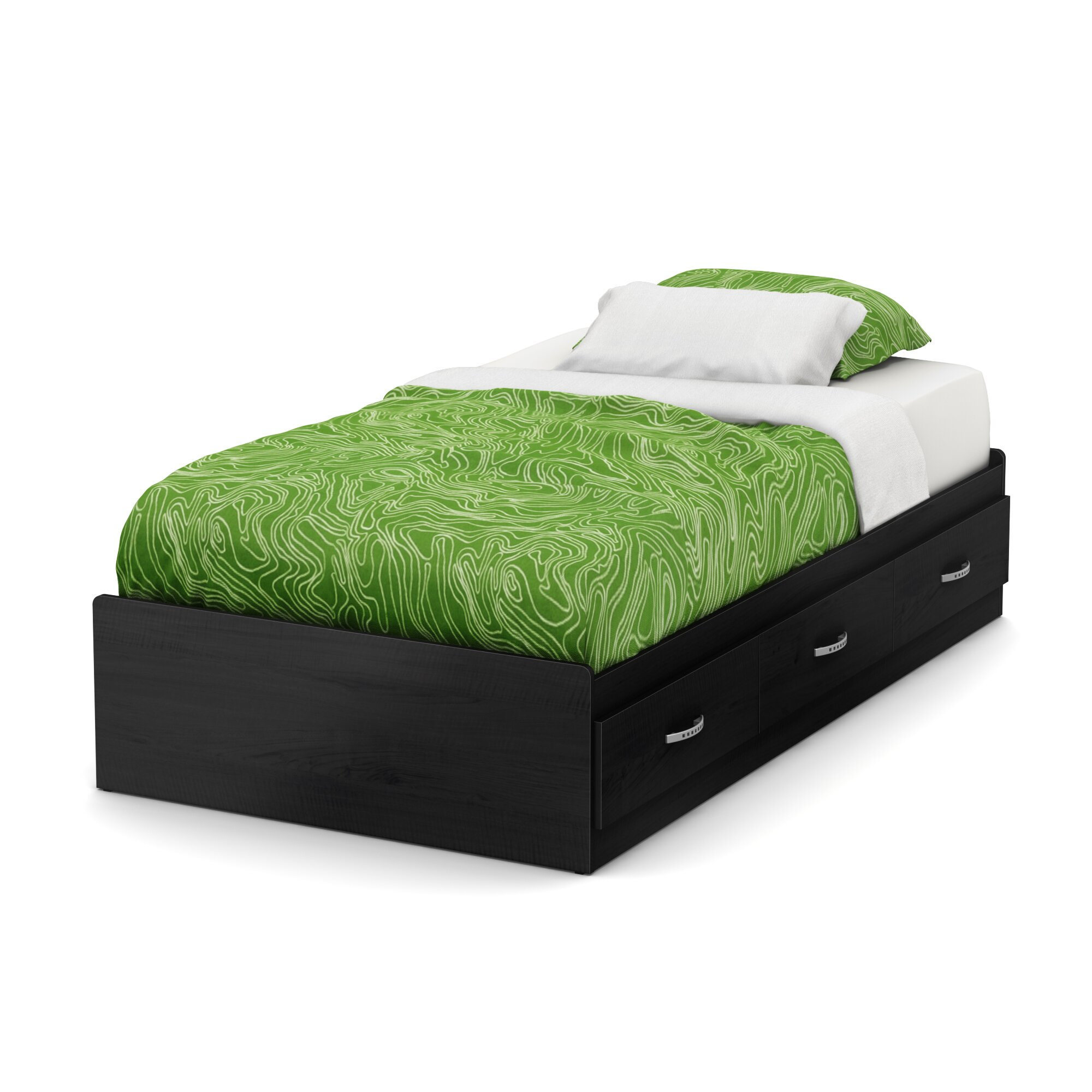 south shore lazer twin mates bed with storage