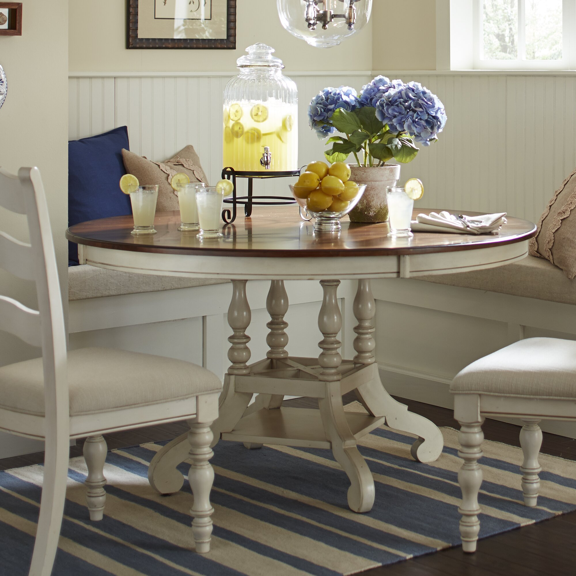 Illinois Modern Two Tone Large Round Dining Table With 8: Birch Lane Dalton Round Extending Dining Table & Reviews