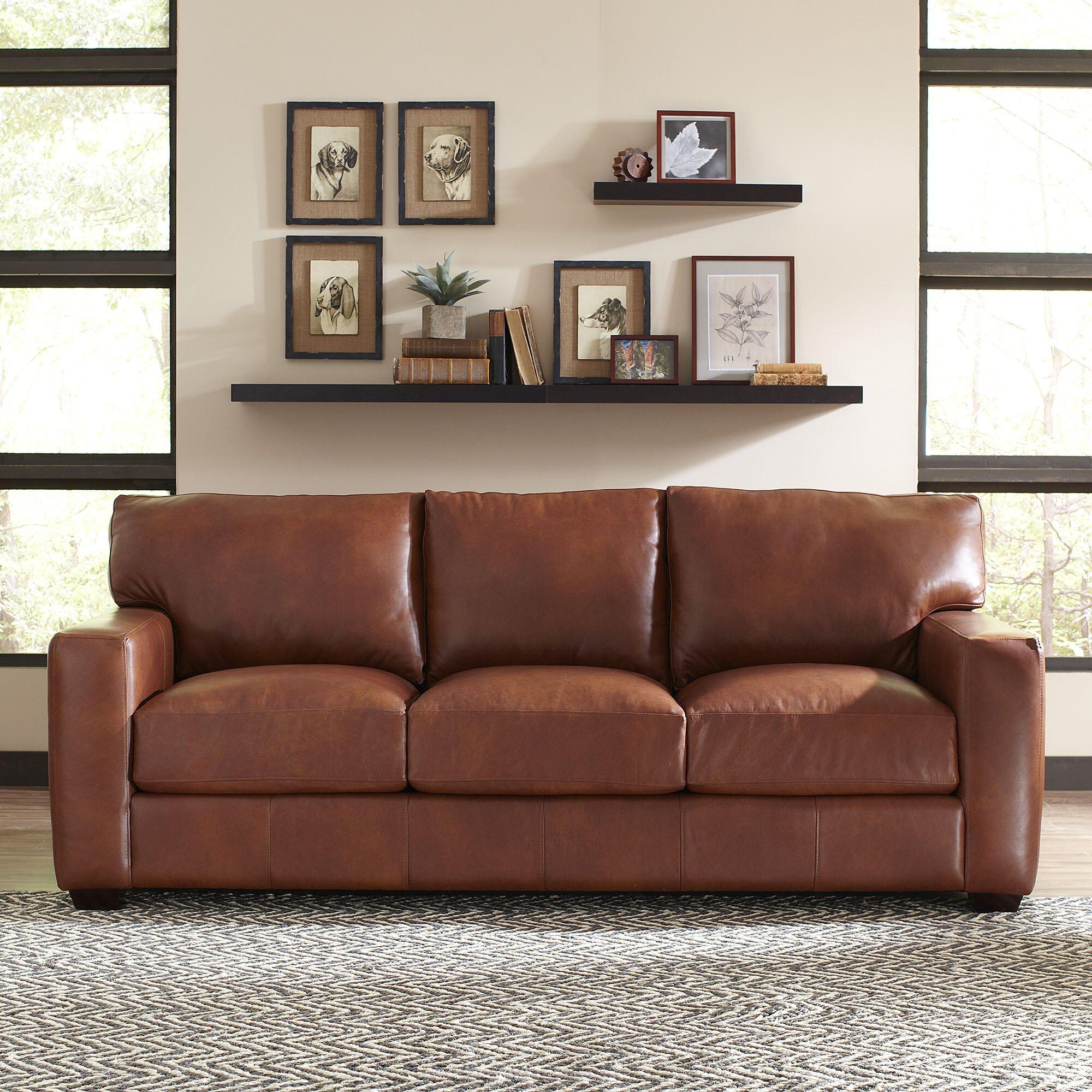 lane bowden leather sofa