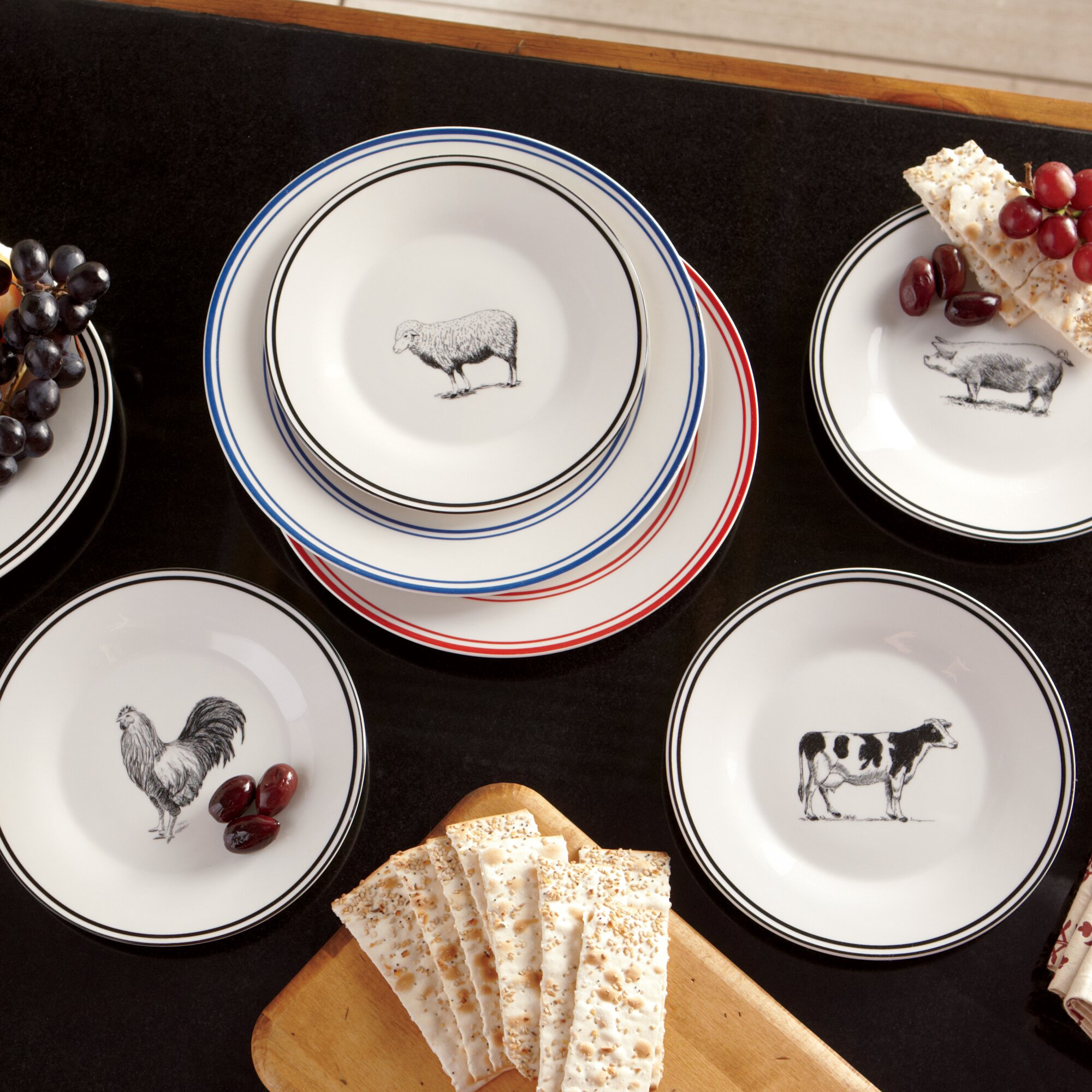 Decorative Kitchen Canisters Sets Birch Lane Farm Animals Ceramic Dessert Plates Amp Reviews