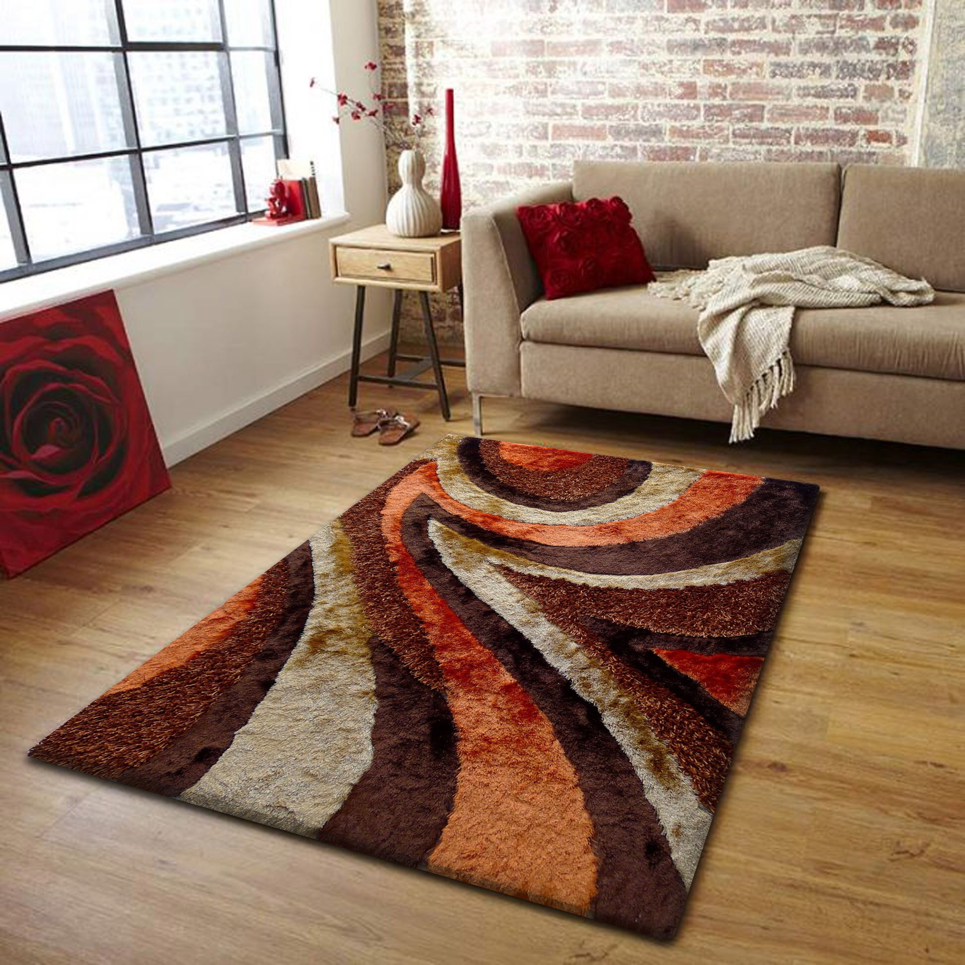 rug factory plus handtufted brownorange area rug. orange and brown area rug  roselawnlutheran