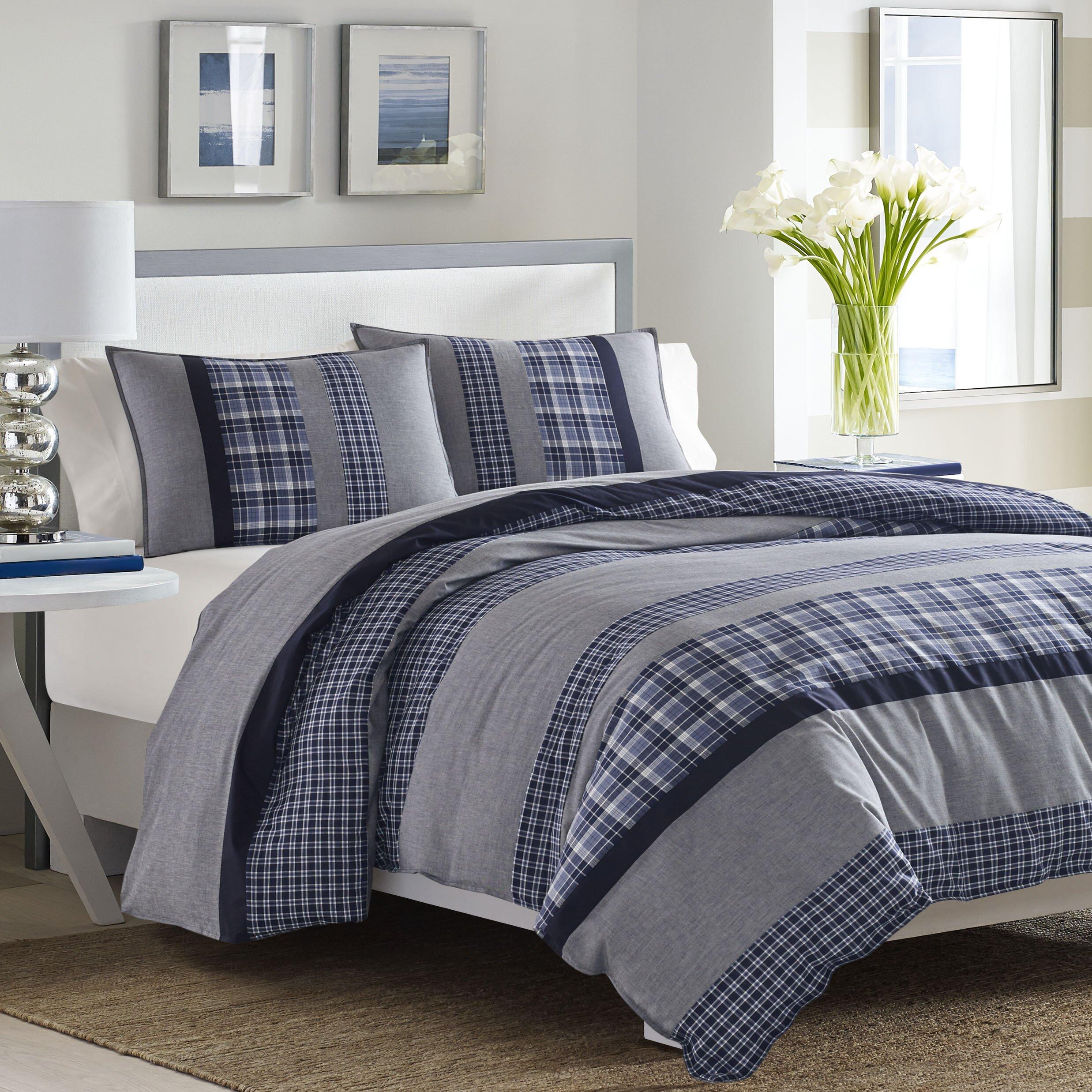 Nautica Bedroom Furniture Nautica Adelson Reversible Comforter Set Reviews Wayfairca