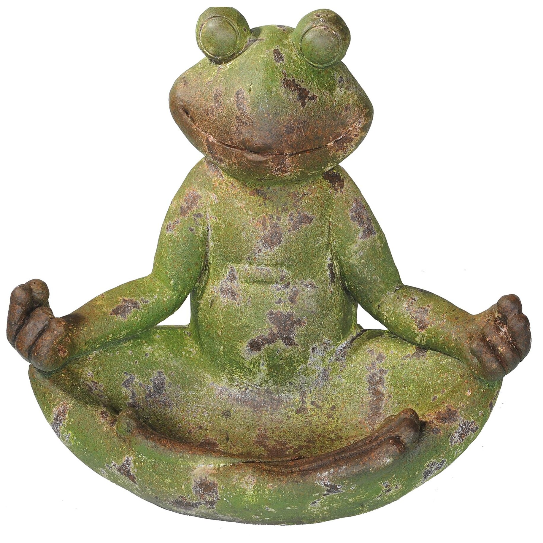 Sunjoy Frog in Lotus Position Garden Statue Reviews Wayfair