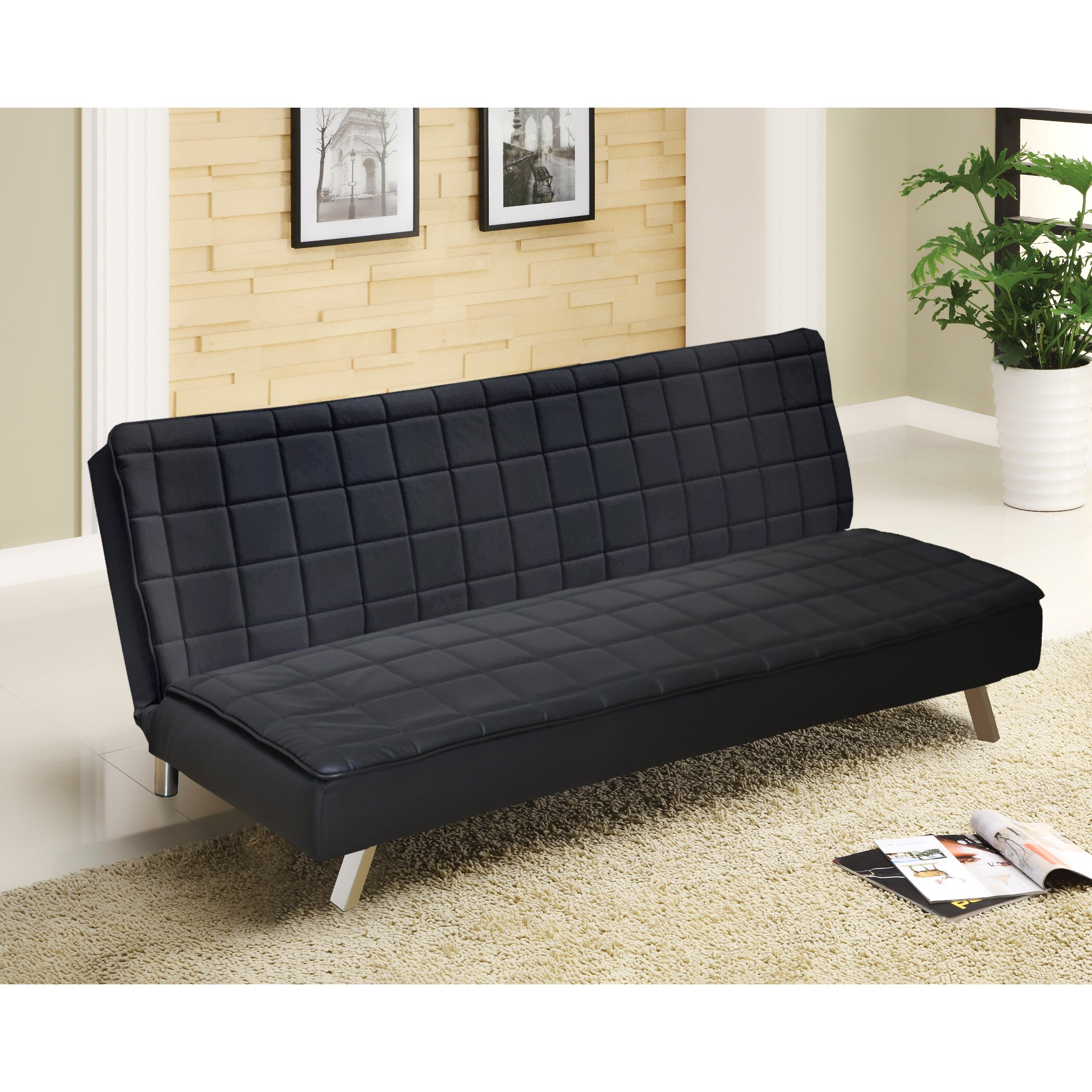 Urban shop memory foam convertible sofa reviews allmodern for Foam convertible sofa bed