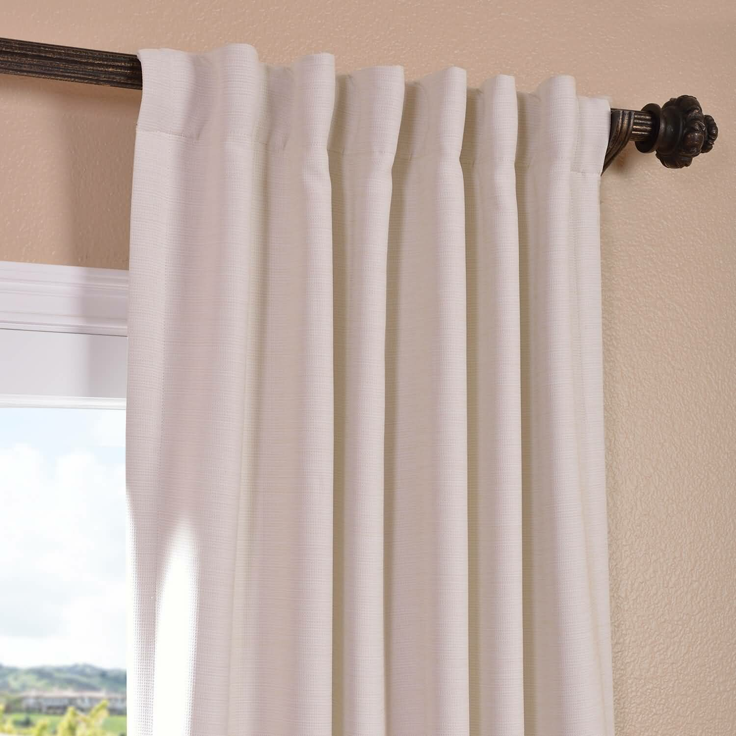 Freeman Solid Blackout Pinch Pleat Single Curtain Panel