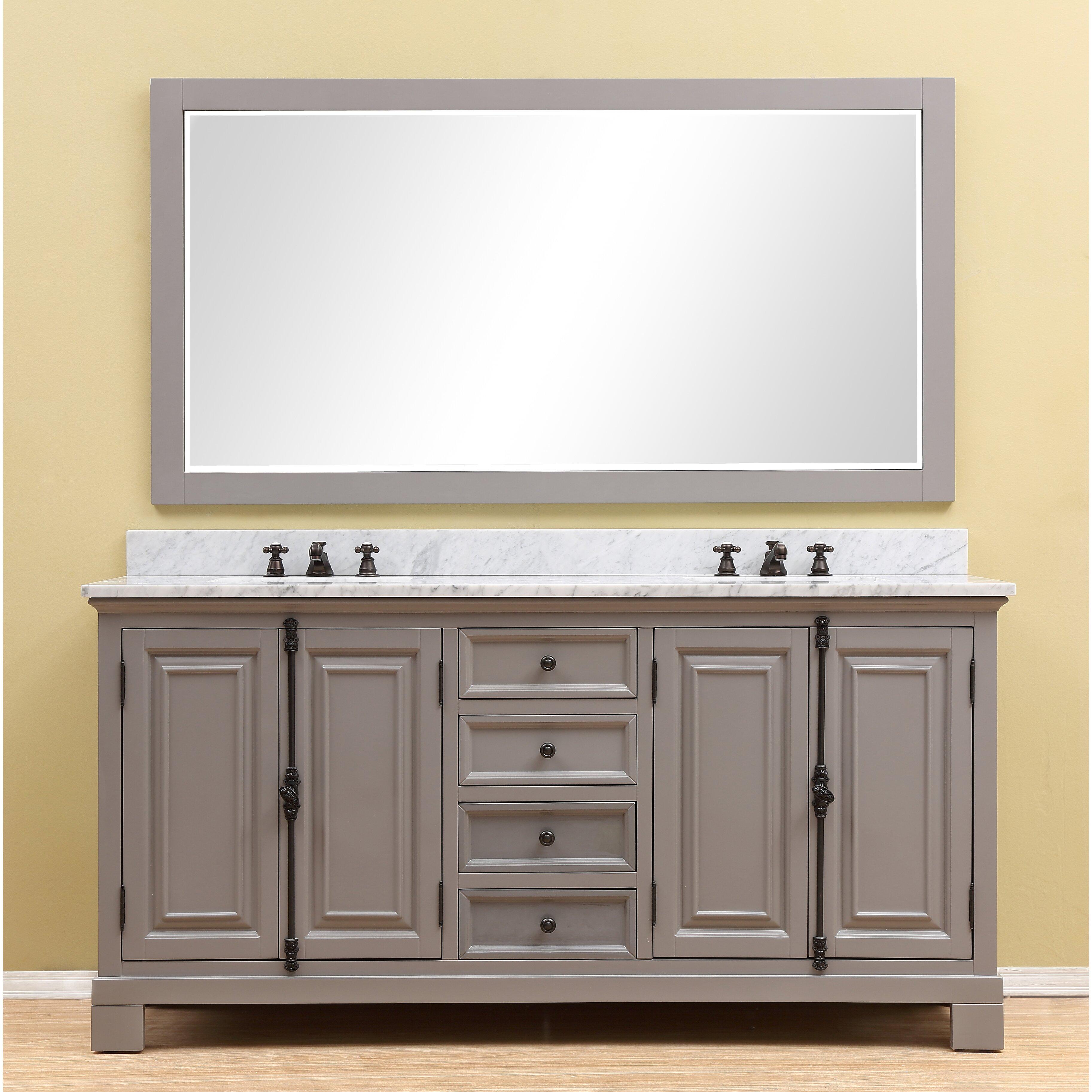 Alvarado 72 double bathroom vanity mirror set reviews for Bathroom mirror set
