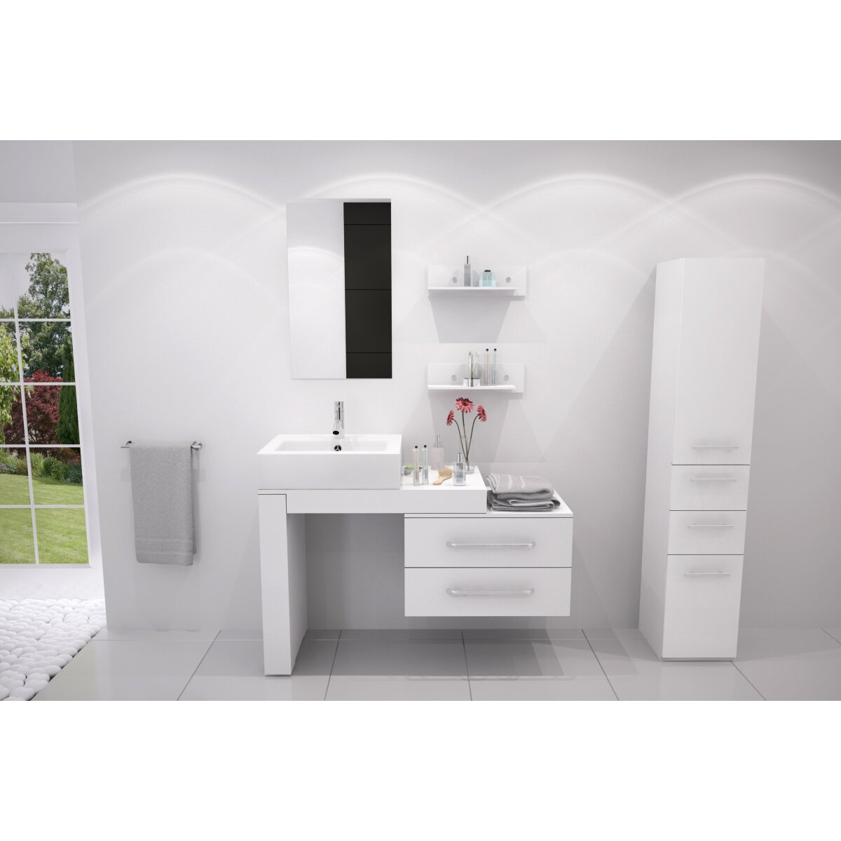 mercury row osborn 57 single wall mounted modern bathroom