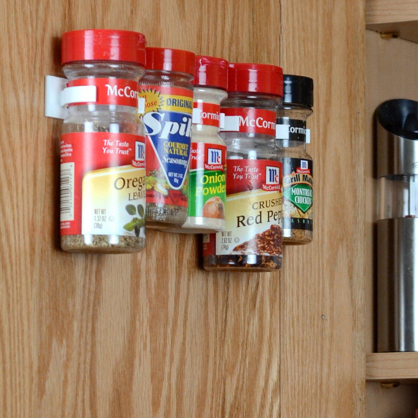 ... Spicestor Cabinet Door 20 Clip Spice Rack Organizer ...
