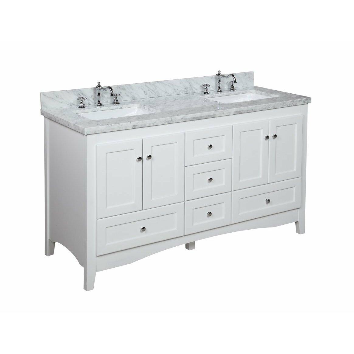 Bathroom Vanity Set Kbc Abbey 60 Double Bathroom Vanity Set Reviews Wayfair