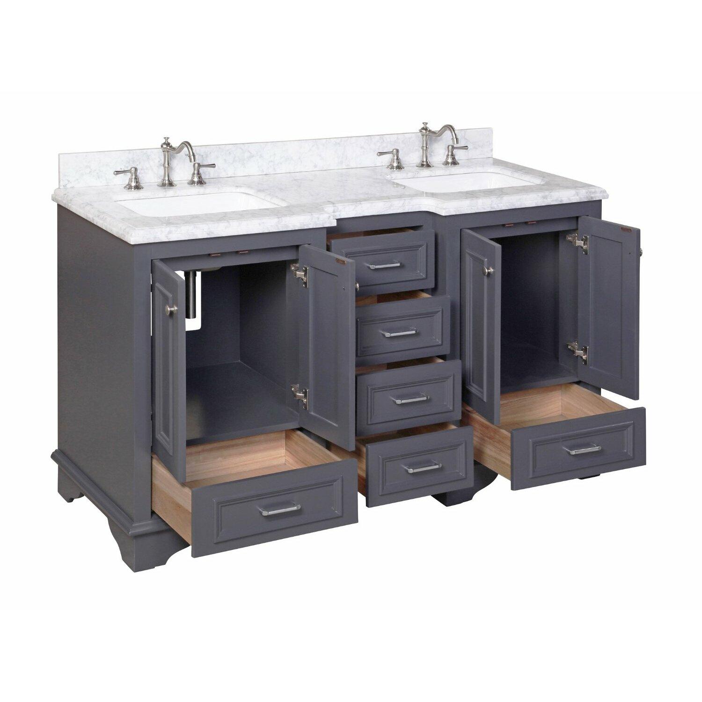 "kbc nantucket "" double sink bathroom vanity set  reviews  wayfair, Bathroom decor"