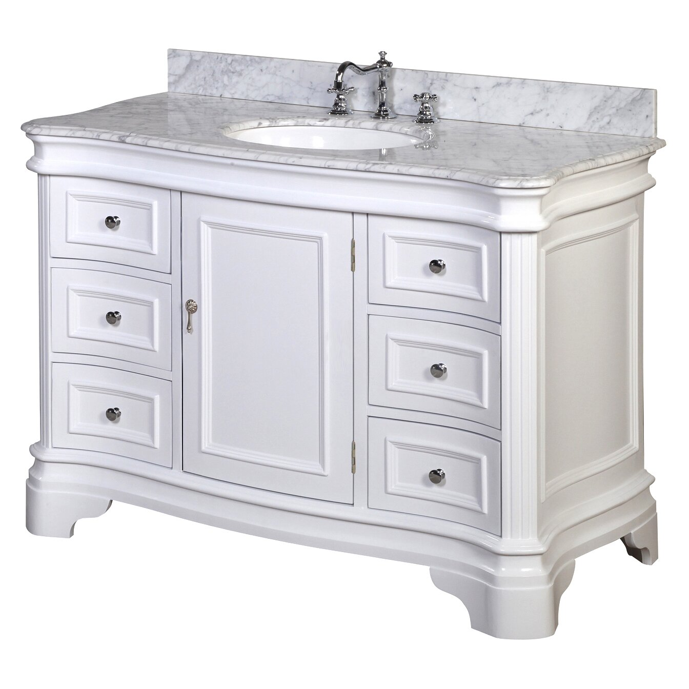 Kbc katherine 48 single bathroom vanity set reviews for Single bathroom vanity
