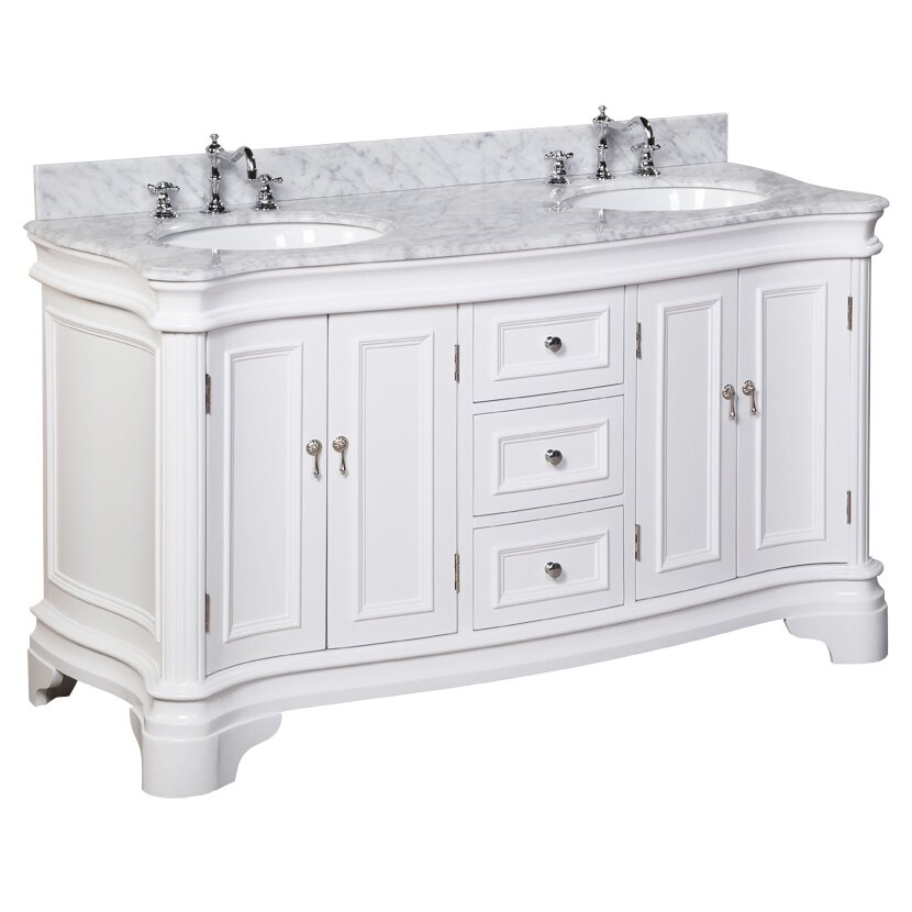 Kitchen Bath Collection Katherine 60 amp quot  Double Bathroom Vanity Set. KBC Katherine 60 quot  Double Bathroom Vanity Set  amp  Reviews   Wayfair
