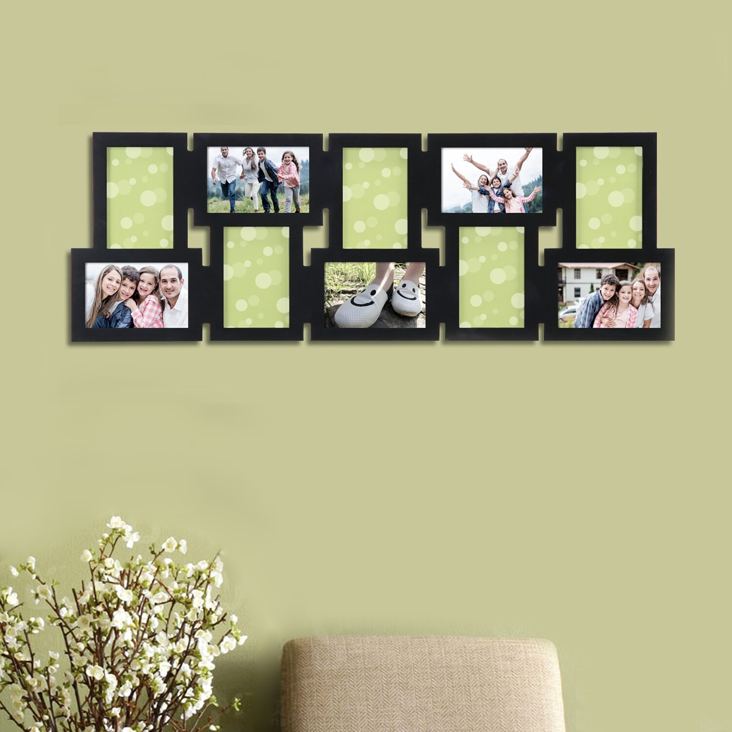 Wall Collage Living Room Adecotrading 10 Opening Decorative Interlocking Wall Hanging